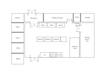 Haircut Shop Floor Plan