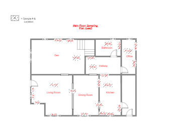 Main Floor Sampling Plan