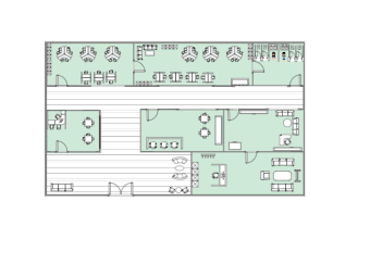 Office Layout with 7 Rooms