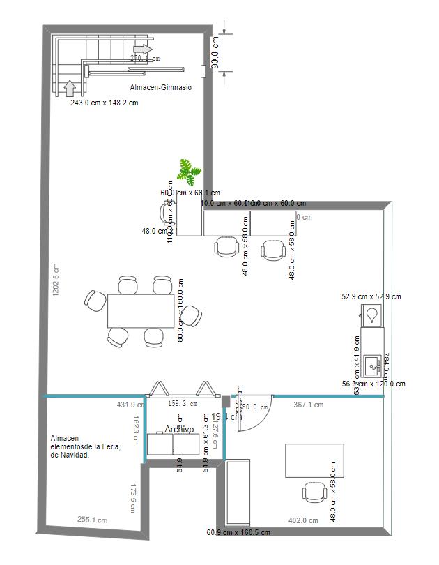 Floor Plan with Open Dinning Room