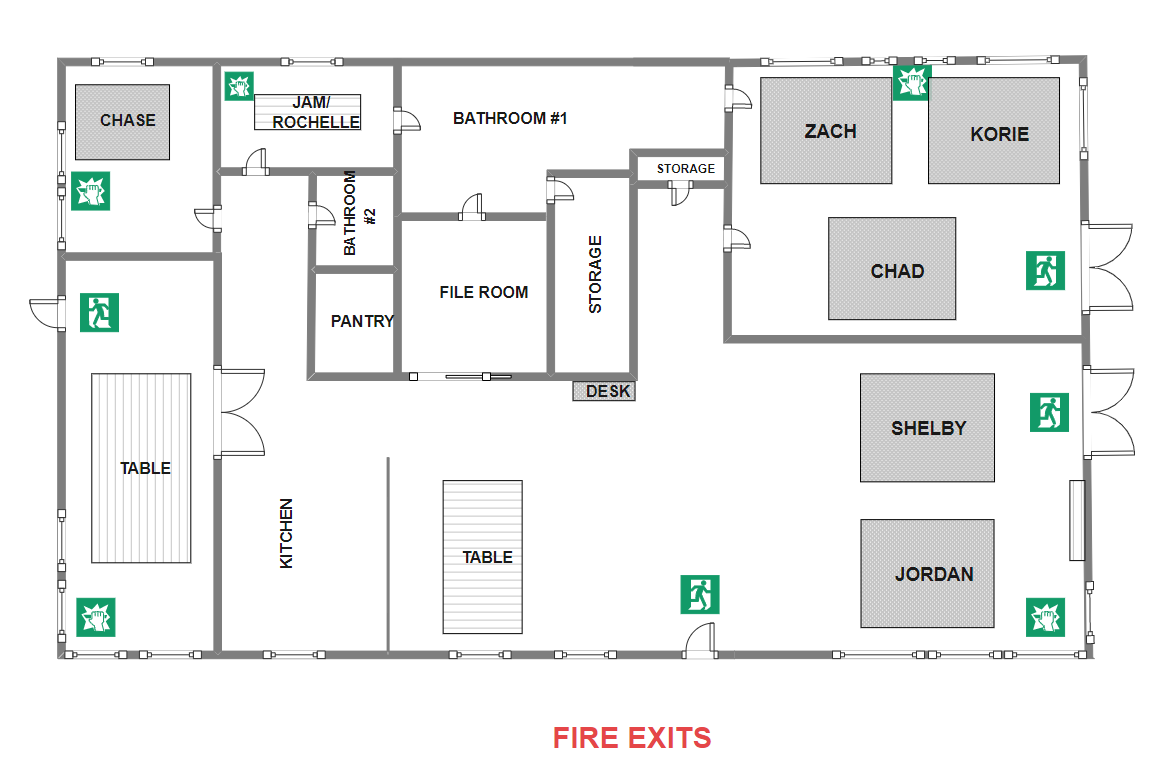 Office Fire Exit Plan