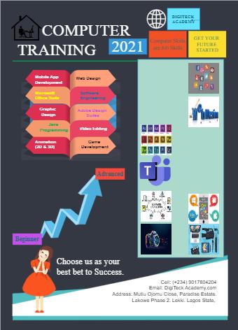 Computer Training Infographic