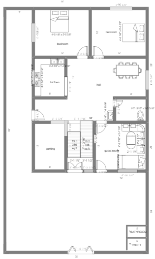 House Plan with Rest Area