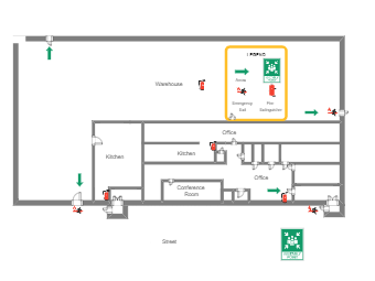 Evacuation Map Example