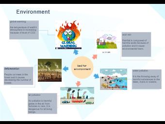 Environmental Problems Circle Spoke Diagram