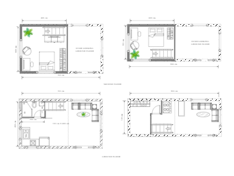 Container Sized House Plan