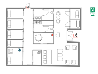Office Layout with Exist Listed