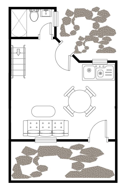 Floor Plan with Garden