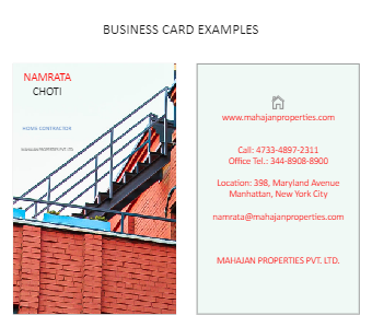 Home Contrator Business Card