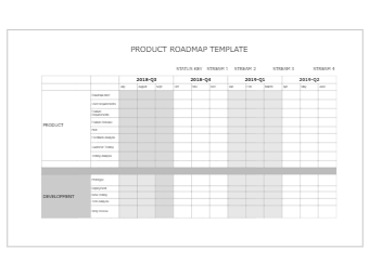 Product Roadmap Template Example