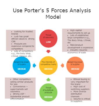 Porter's Five Forces Diagram Example