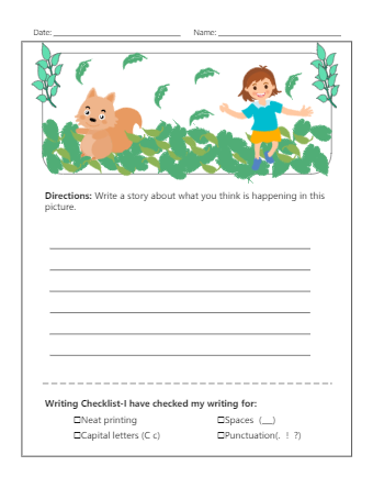 Writing Exercise Worksheet