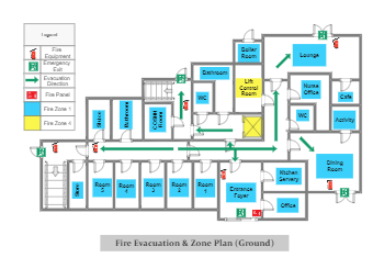 Care Home Fire Evacuation and Zone Plan