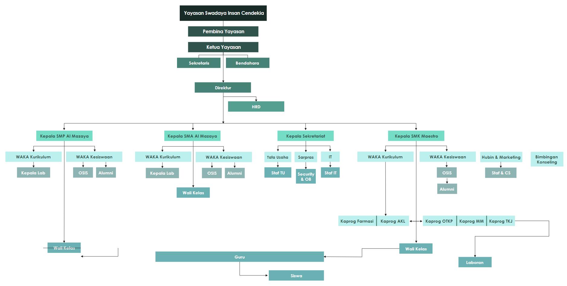 YSIC Organizational Structure