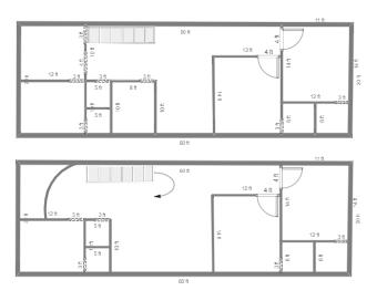 20x60 House Plan