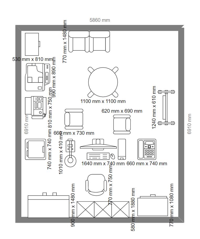 Financial Office Floor Plan