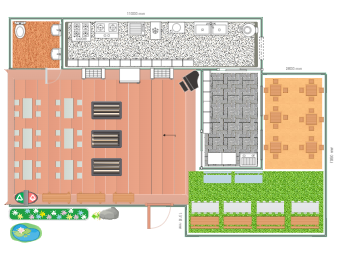 Colorful Restaurant Layout