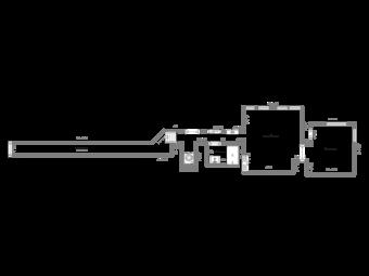 Floor Plan with a Long Hallway