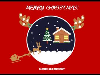 Crystal Christmas Card
