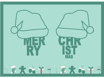 Christmas Card with Christmas Hat