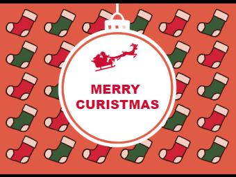 Christmas Card with Christmas Socks