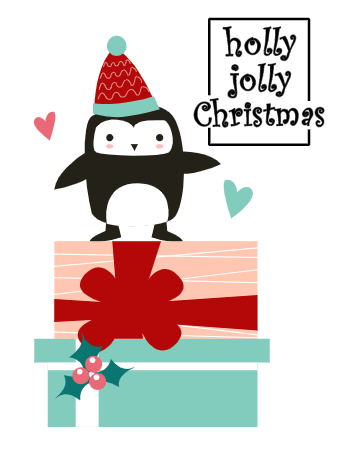 Christmas Penguine Card