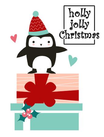 Christmas Penguine Card