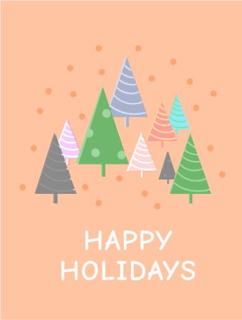 Christmas Colorful Tree Card