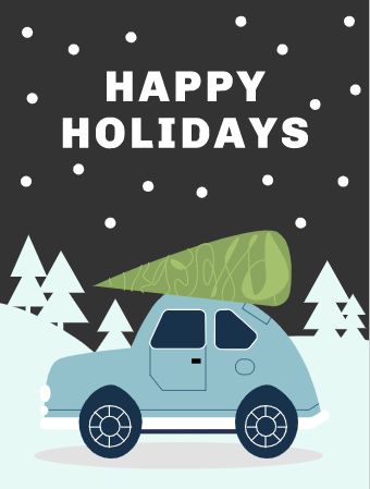 Christmas Car Card