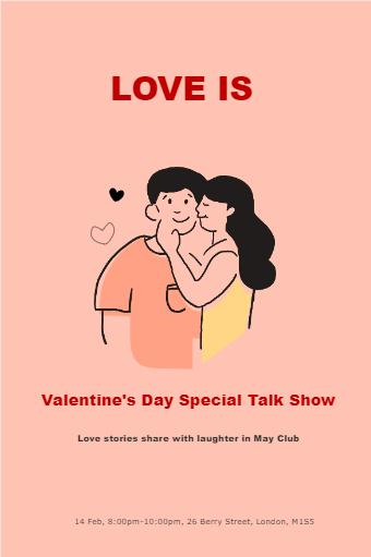 Valentine's Day Talk Show Flyer