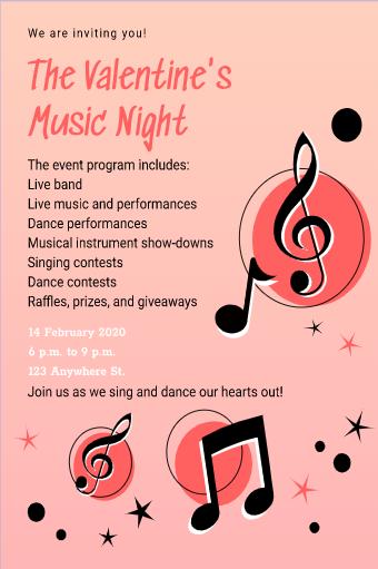 Valentine's Day Musical Flyer
