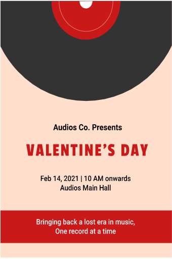 Valentine's Day Live House Flyer