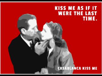 Valentine's Day Movie Card - Casablanca