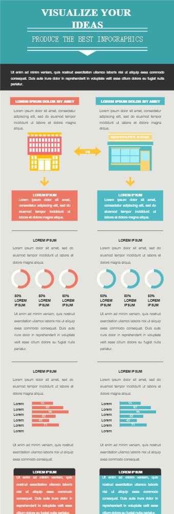 Businesses' Comparison Infographic