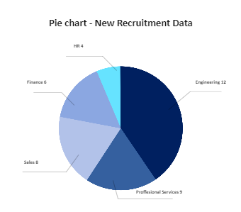New Recruitment Data Pie Chart