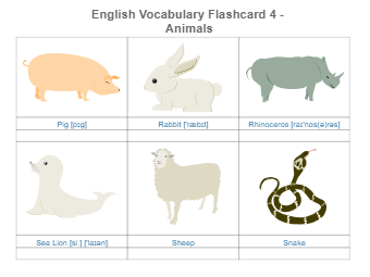 Animal Flashcards Part 4