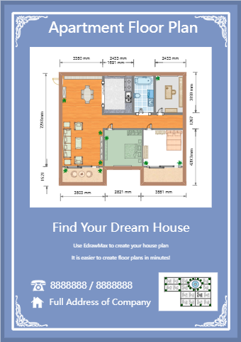 Apartment Floor Plan Flyer