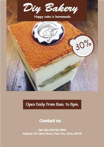 Bakery Shop Flyer