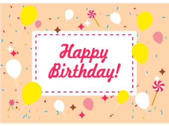 Balloons Candies Birthday Card