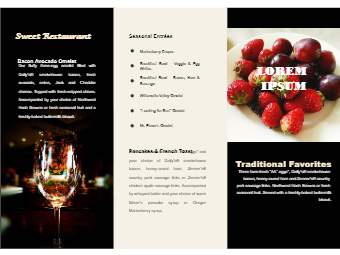 Bar Food Brochure