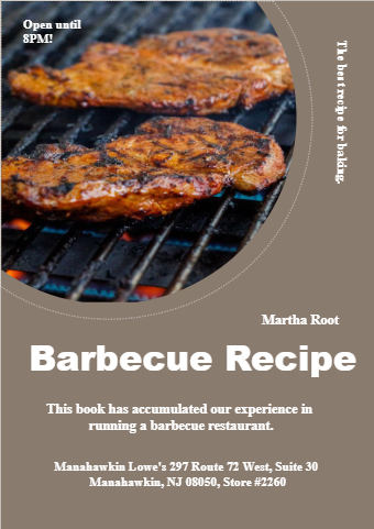 Barbecue Recipe Book Cover