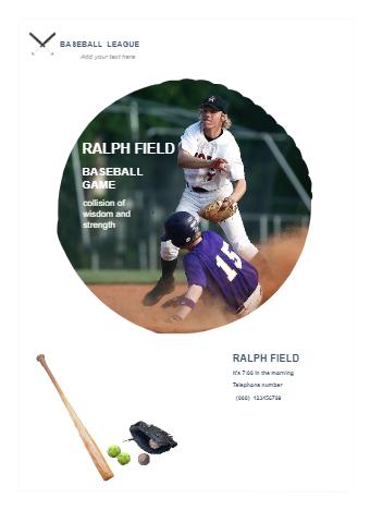 Baseball Business Poster