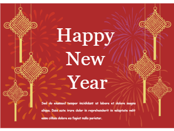 Chinese Knots New Year Card
