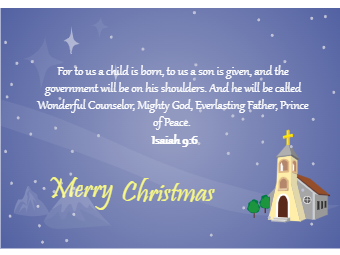 Christmas Card with Bible Saying