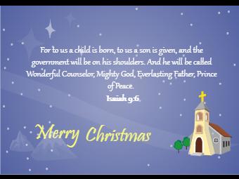 Christmas Card with Bible Saying