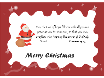 Christmas Card with God Words