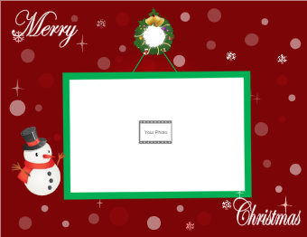 Christmas Card with Wreath Photo
