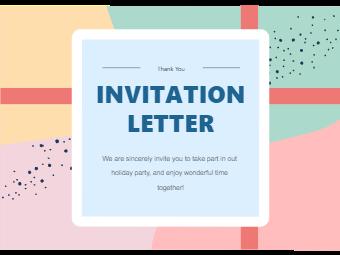 Colorful Blocks Invitation Card