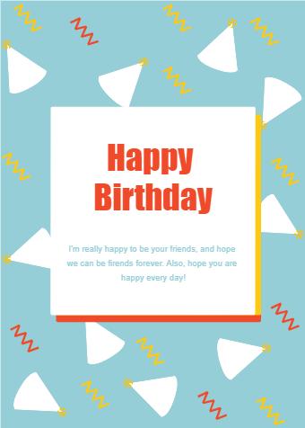 Wizard Hat Birthday Card