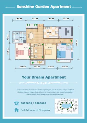 Floor Plan Real Estate Flyer